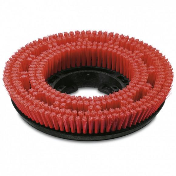 Szczotka tarczowa, średnia, czerwony, 355 mm